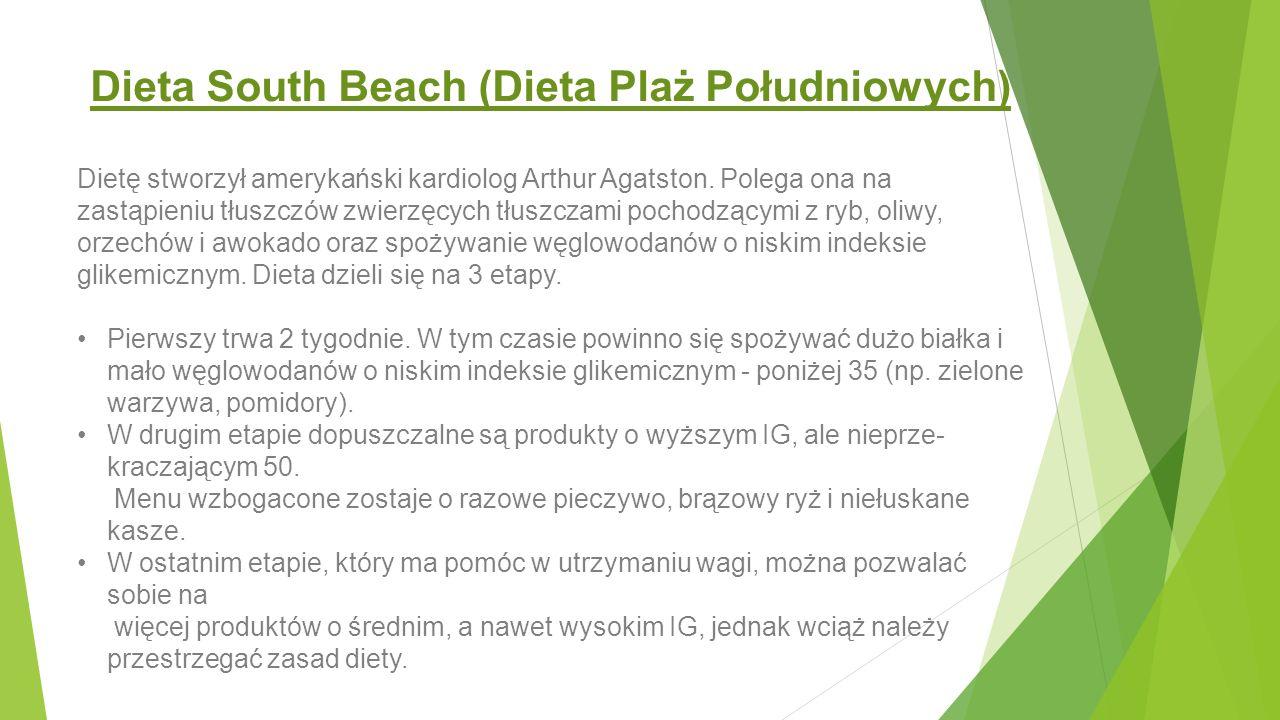 Dieta South Beach (Dieta Plaż Południowych)