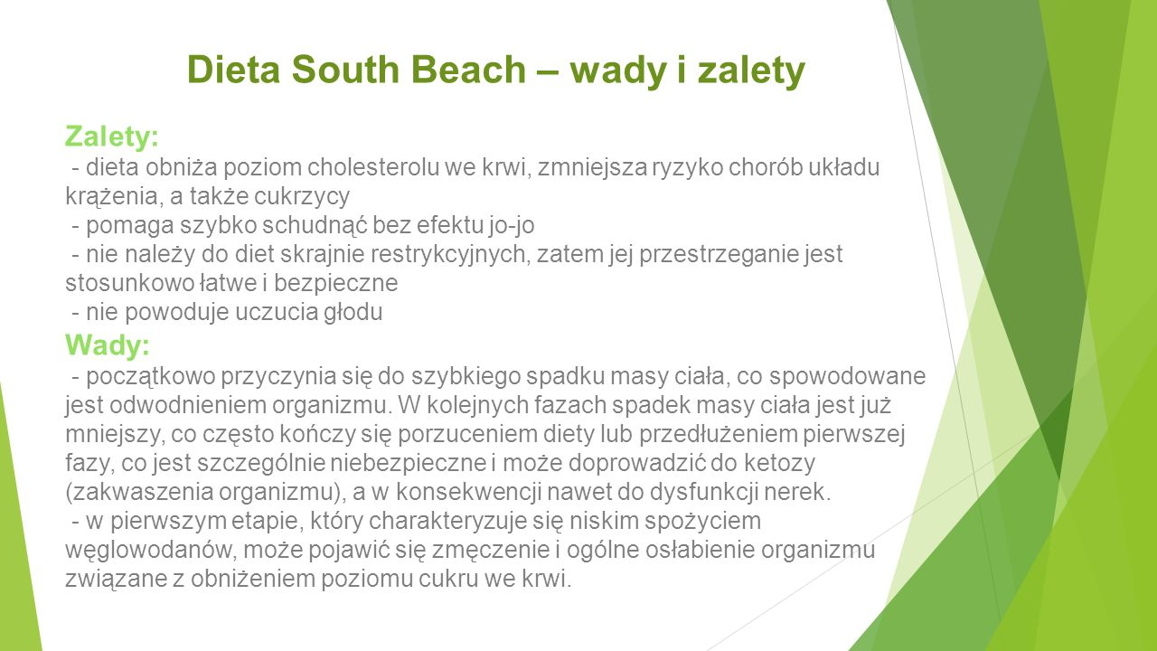 Dieta South Beach – wady i zalety