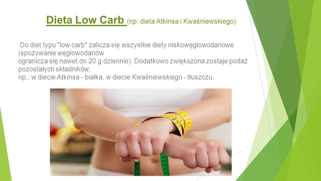 Dieta Low Carb (np. dieta Atkinsa i Kwaśniewskiego)