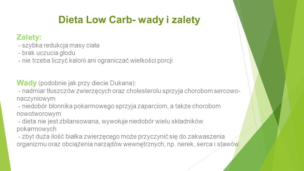 Dieta Low Carb- wady i zalety