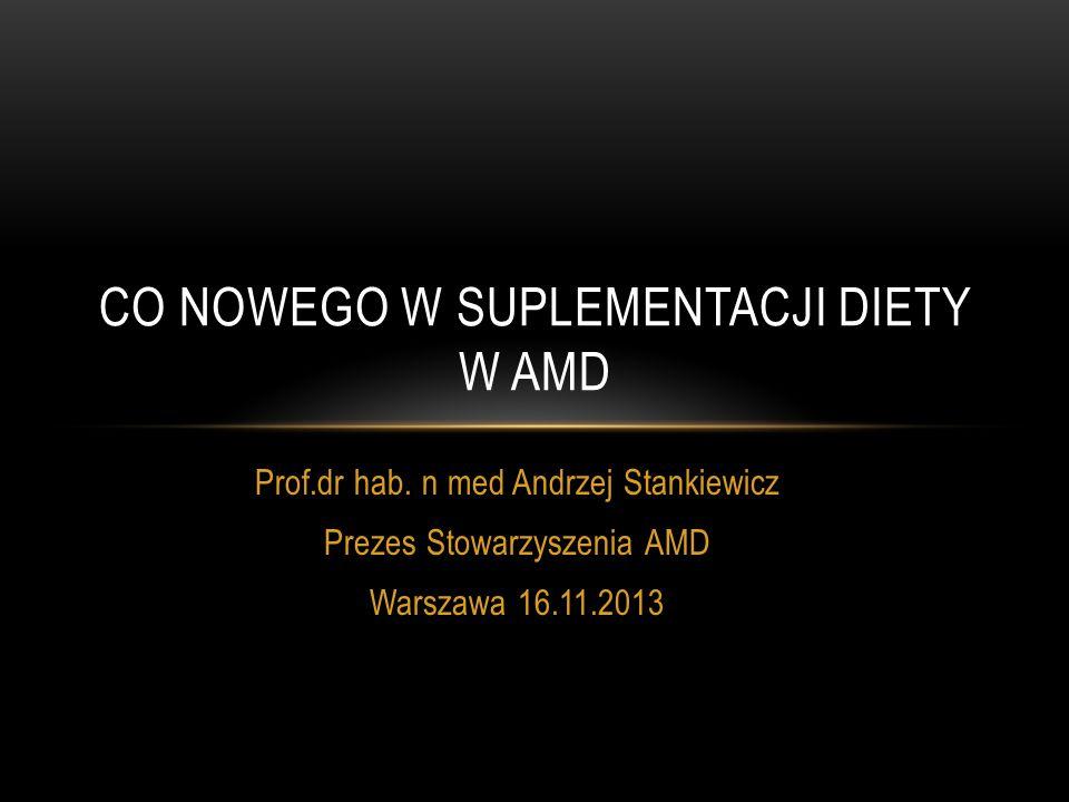 CO NOWEGO W SUPLEMENTACJI DIETY W AMD
