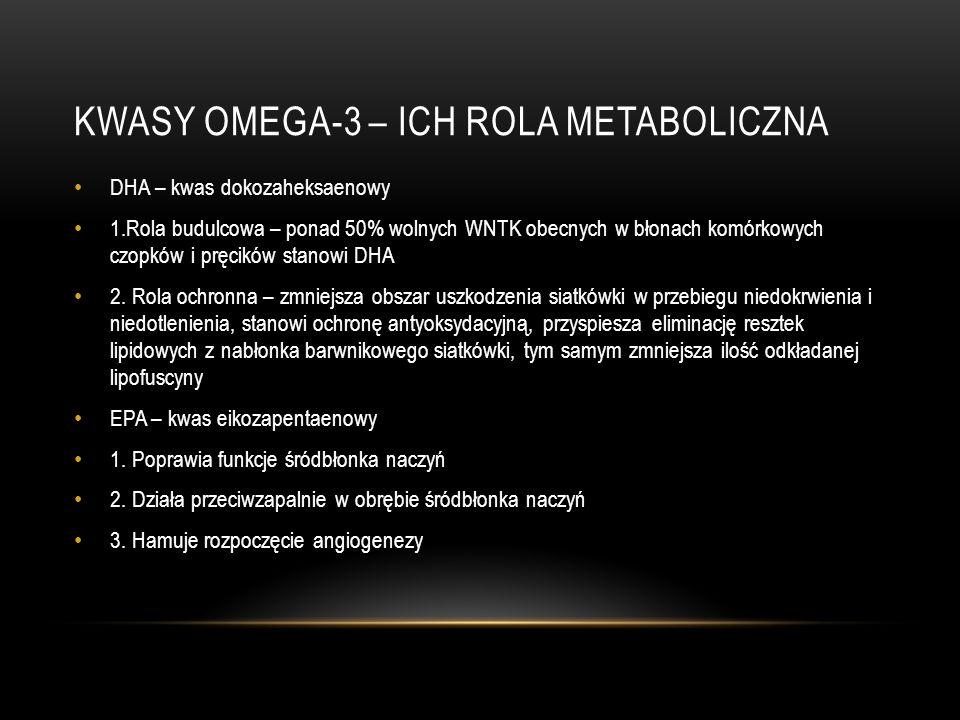 KWASY OMEGA-3 – ICH ROLA METABOLICZNA