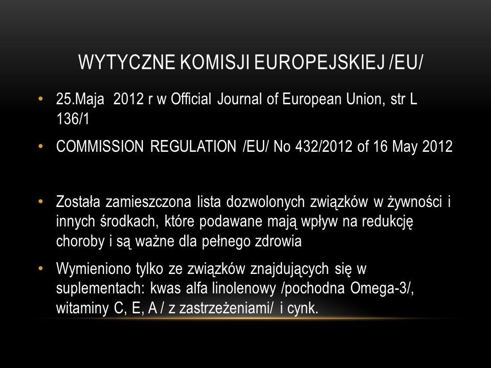 WYTYCZNE KOMISJI EUROPEJSKIEJ /EU/