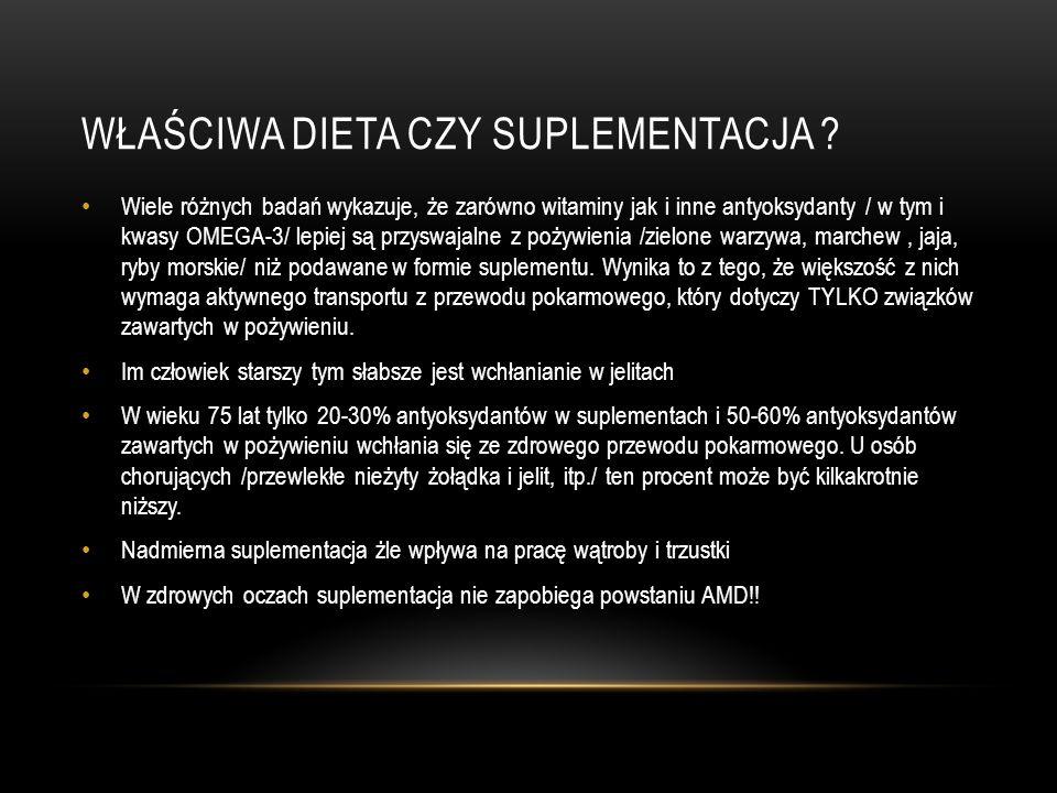 Właściwa dieta czy suplementacja