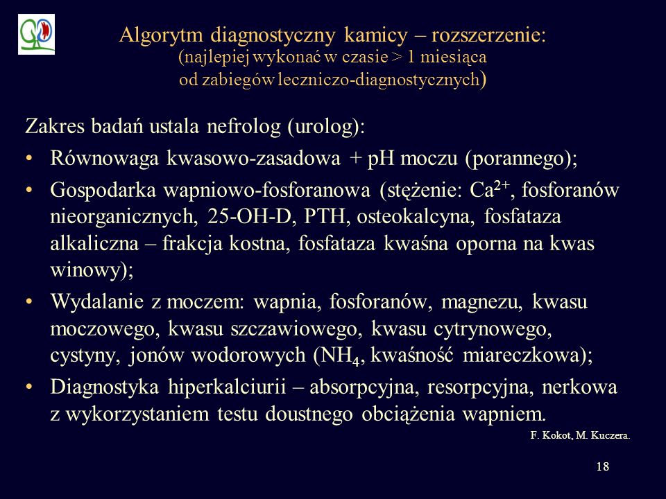 Zakres badań ustala nefrolog (urolog):