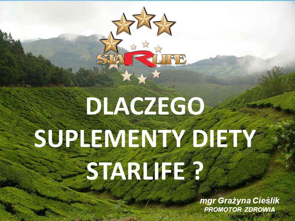 DLACZEGO SUPLEMENTY DIETY STARLIFE