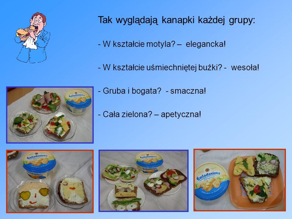 Tak wyglądają kanapki każdej grupy: