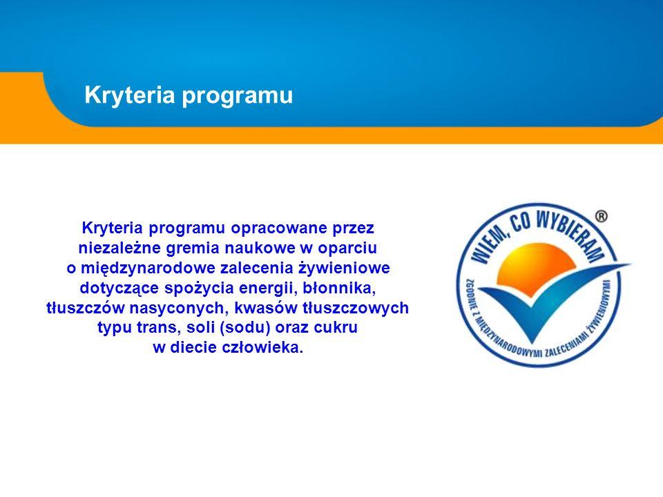 Kryteria programu
