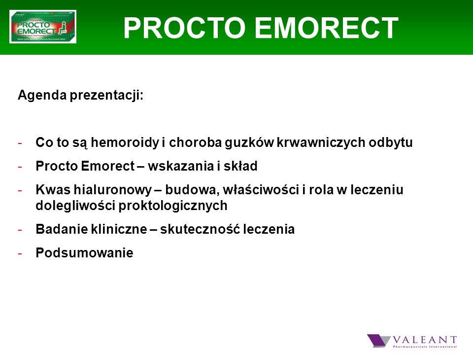 PROCTO EMORECT Agenda prezentacji: