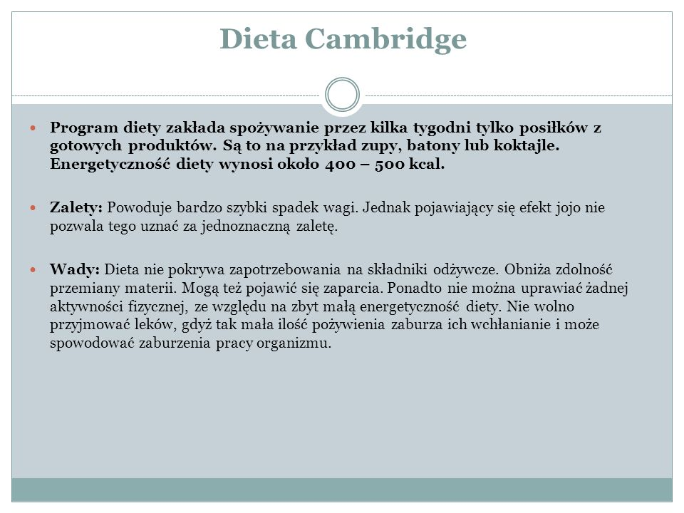 Dieta Cambridge
