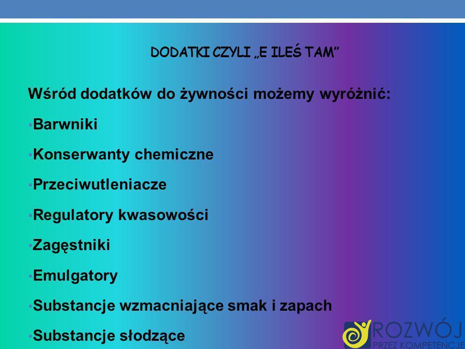 """Dodatki czyli """"e ileś tam"""