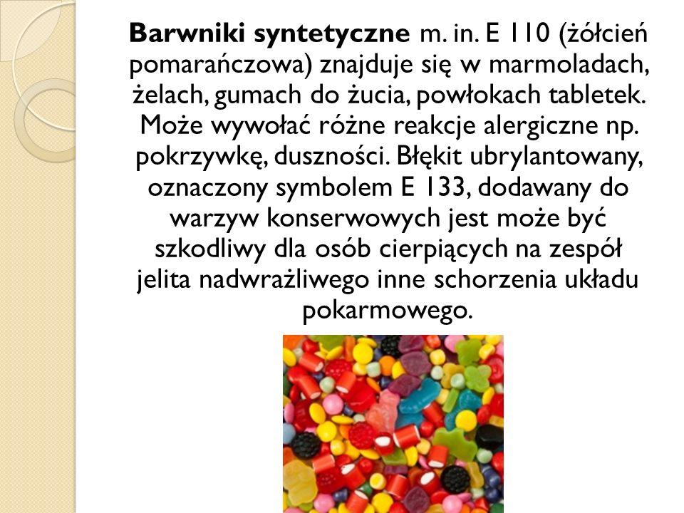 Barwniki syntetyczne m. in