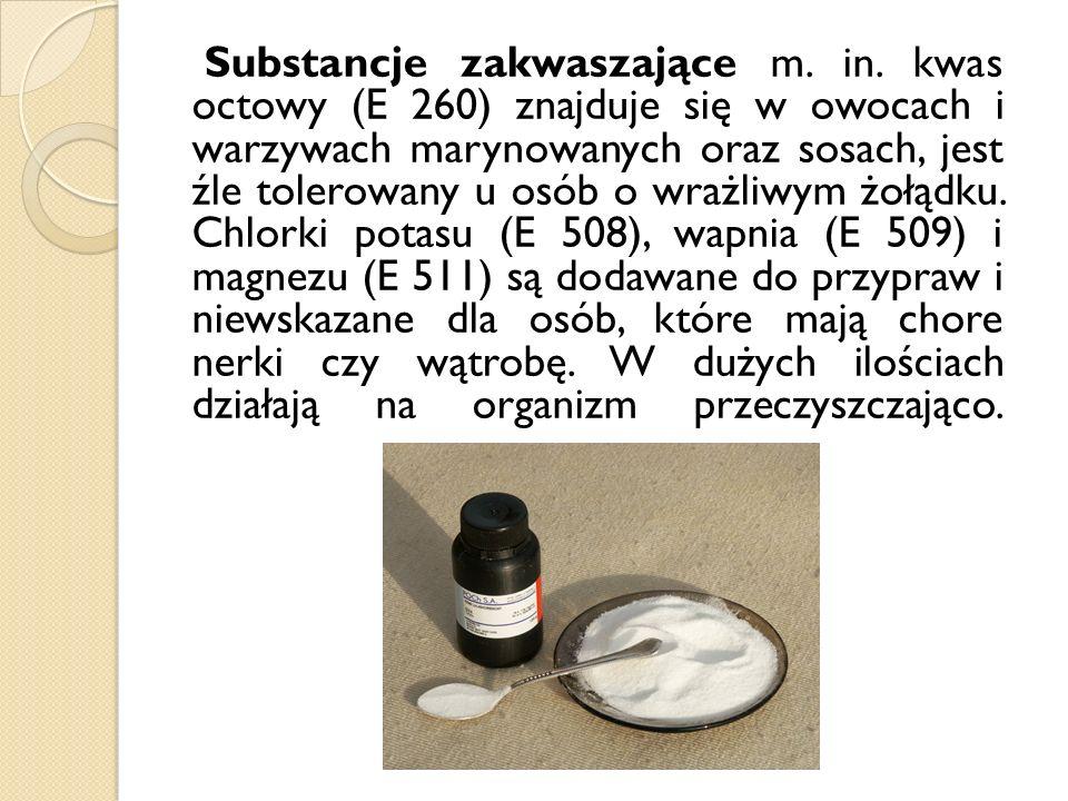 Substancje zakwaszające m. in