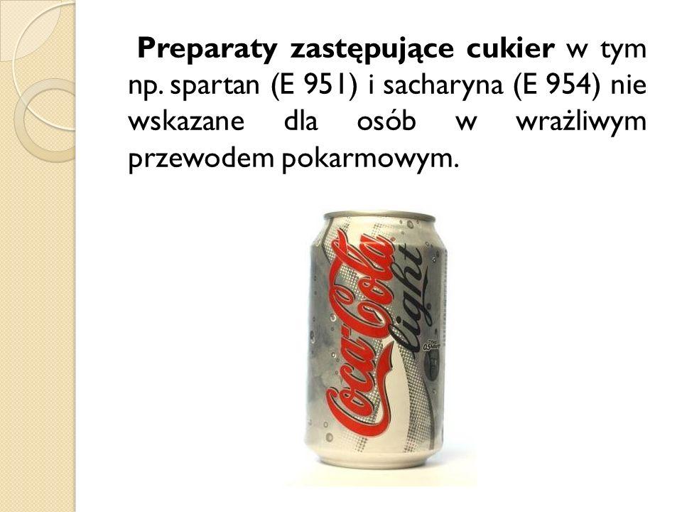 Preparaty zastępujące cukier w tym np