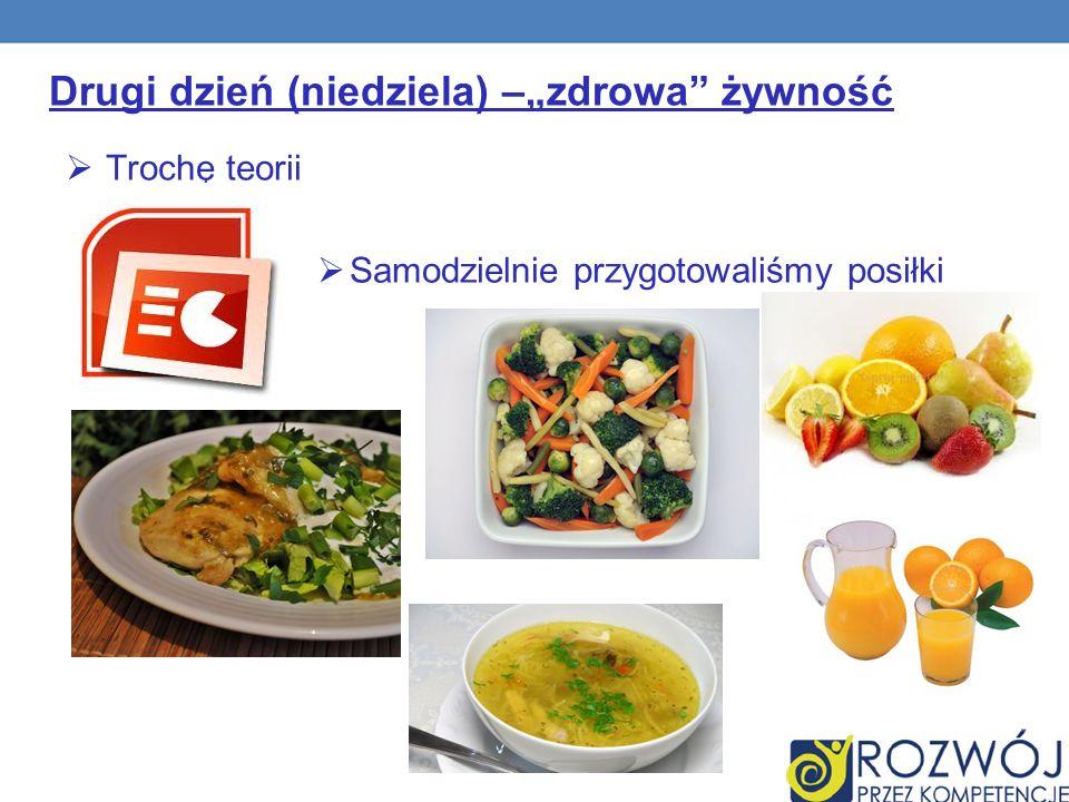 """Drugi dzień (niedziela) –""""zdrowa żywność"""