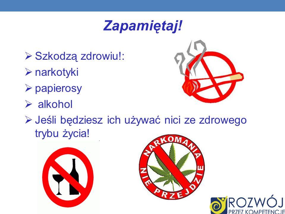 Zapamiętaj! Szkodzą zdrowiu!: narkotyki papierosy alkohol