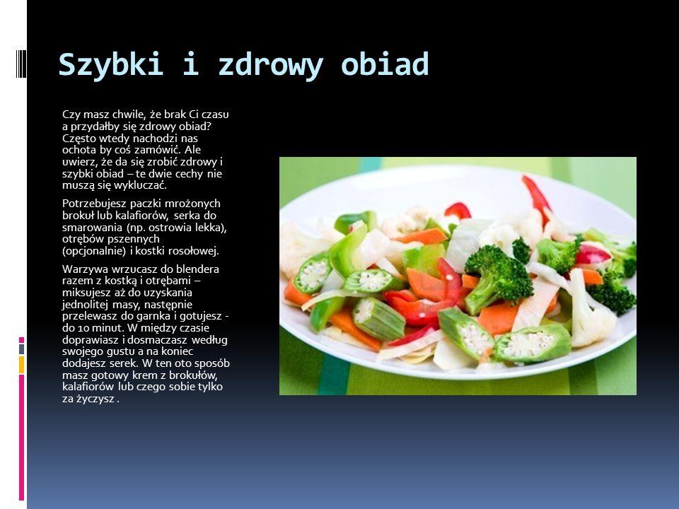 Szybki i zdrowy obiad