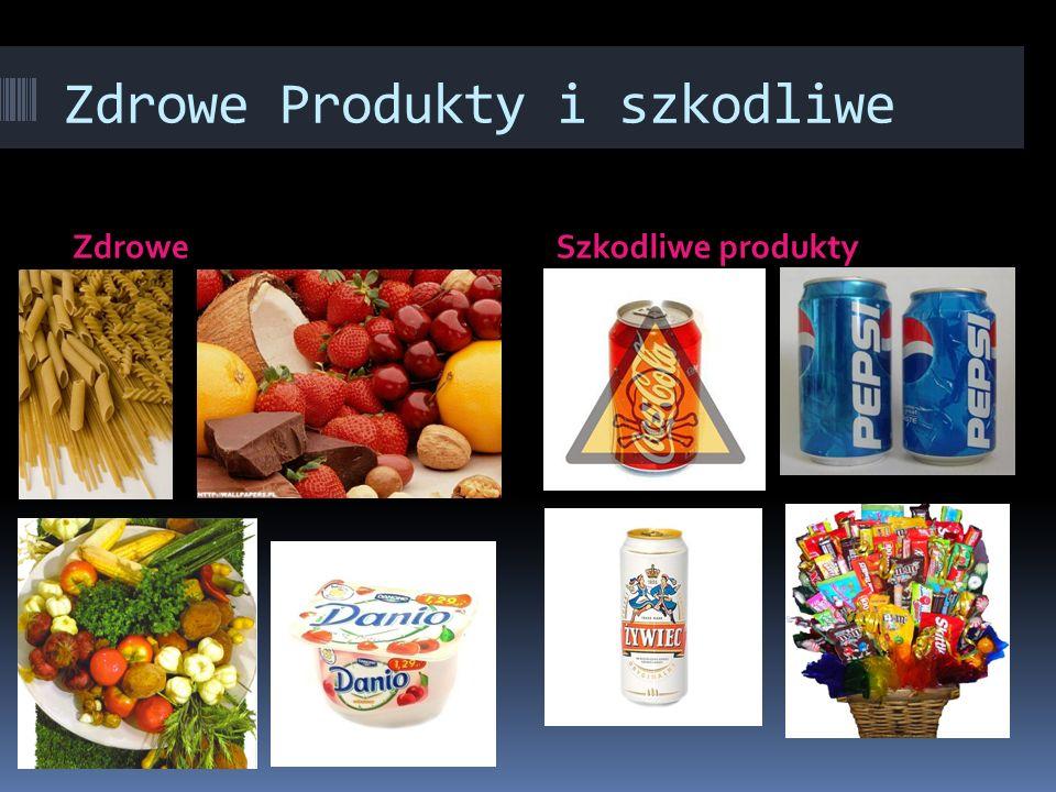 Zdrowe Produkty i szkodliwe