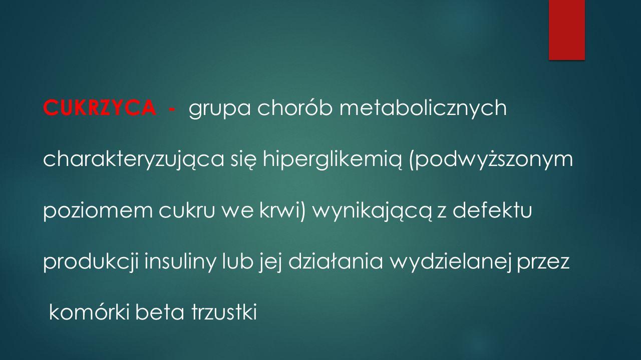 CUKRZYCA - grupa chorób metabolicznych