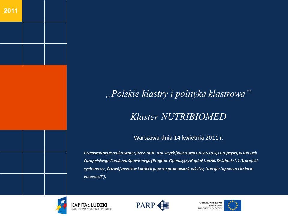 """""""Polskie klastry i polityka klastrowa Klaster NUTRIBIOMED Warszawa dnia 14 kwietnia 2011 r."""