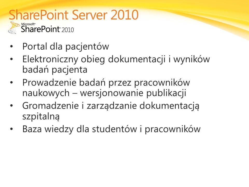 SharePoint Server 2010 Portal dla pacjentów