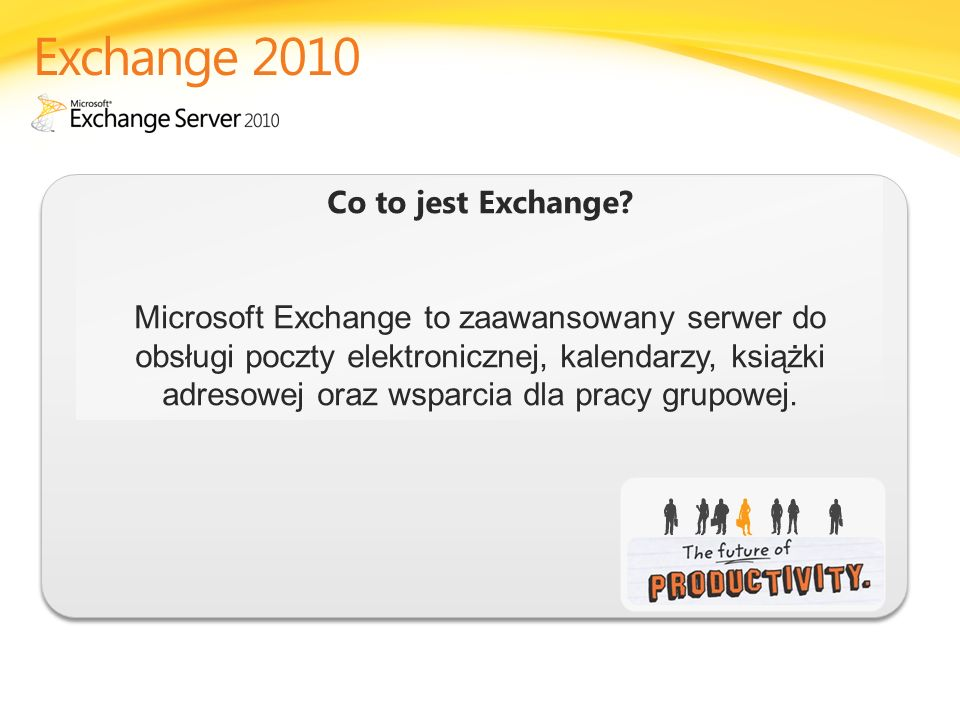 Exchange 2010 Co to jest Exchange