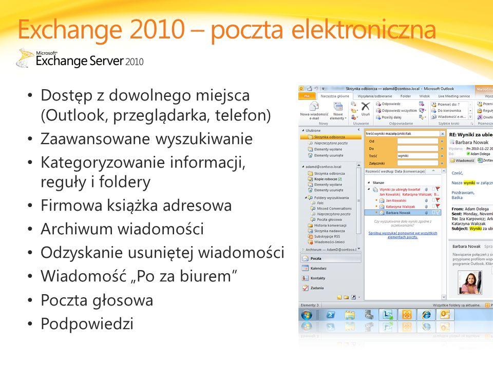 Exchange 2010 – poczta elektroniczna