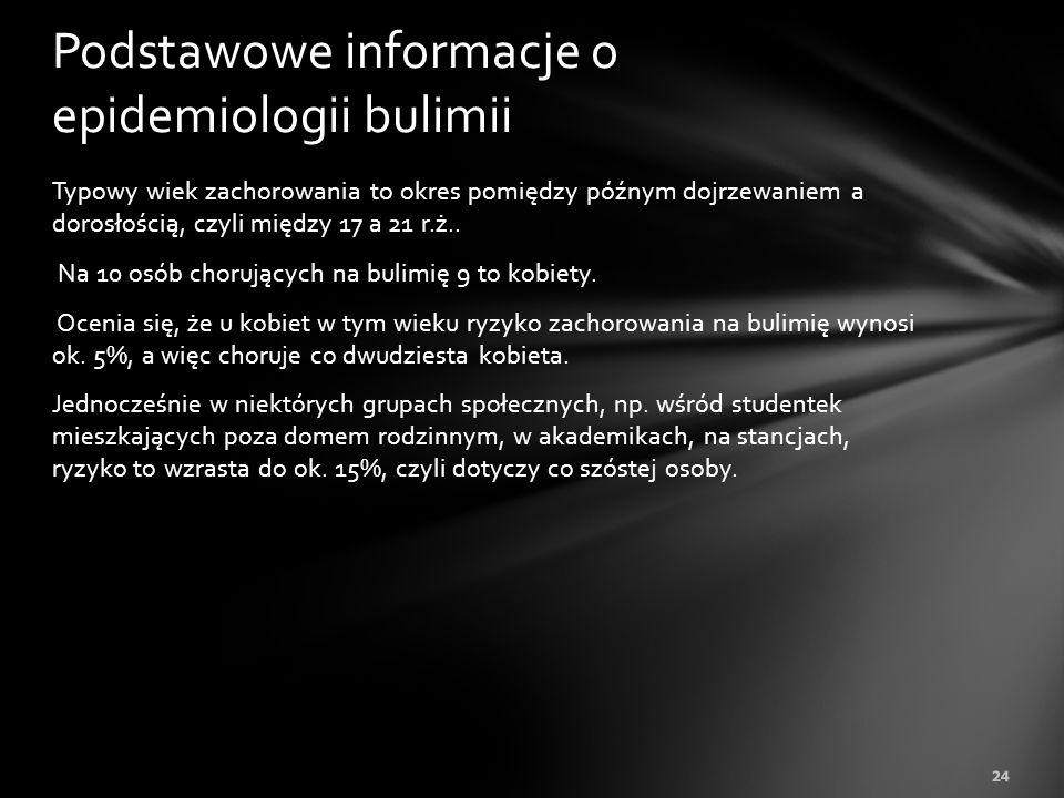 Podstawowe informacje o epidemiologii bulimii