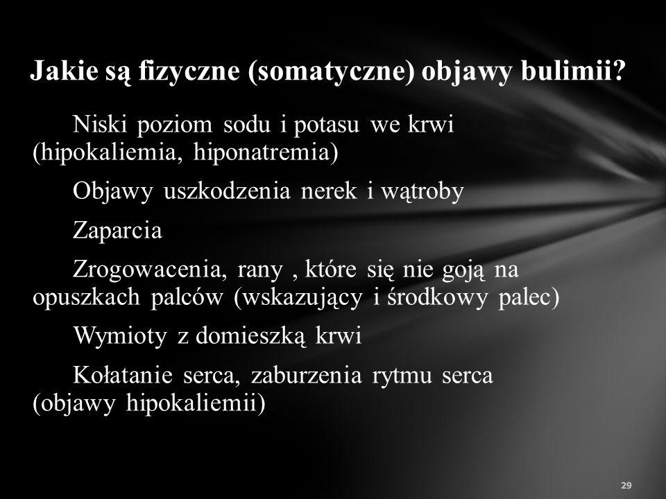 Jakie są fizyczne (somatyczne) objawy bulimii