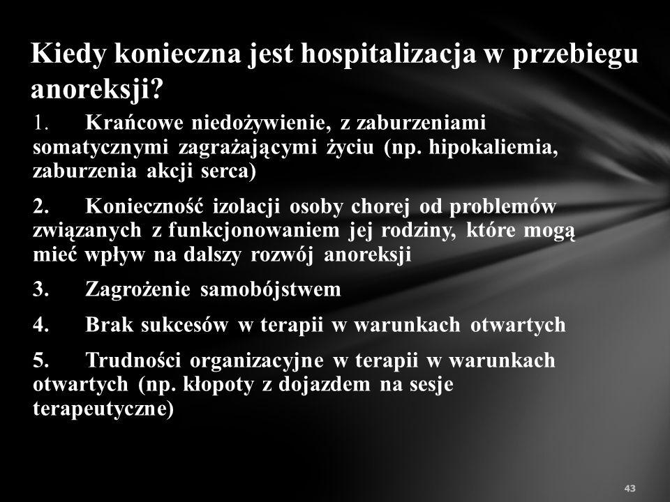 Kiedy konieczna jest hospitalizacja w przebiegu anoreksji