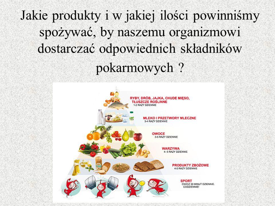 Jakie produkty i w jakiej ilości powinniśmy spożywać, by naszemu organizmowi dostarczać odpowiednich składników pokarmowych
