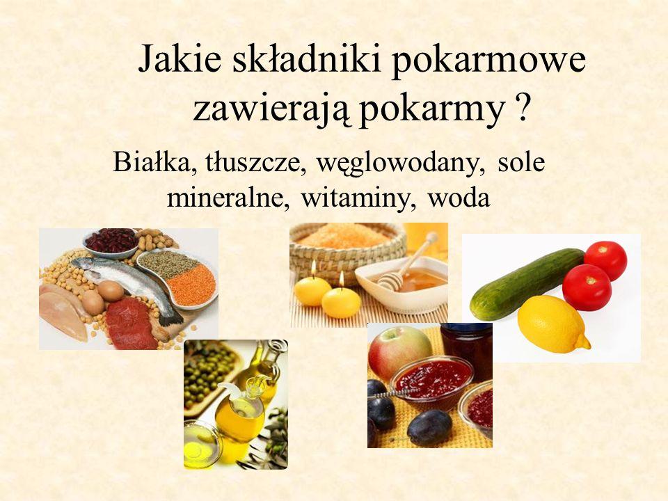 Jakie składniki pokarmowe zawierają pokarmy