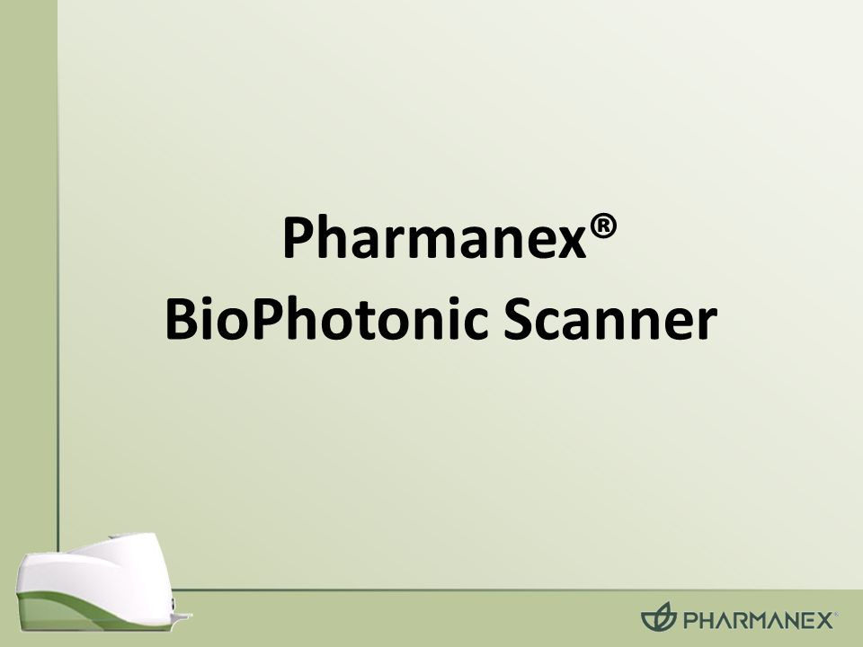 Pharmanex® BioPhotonic Scanner