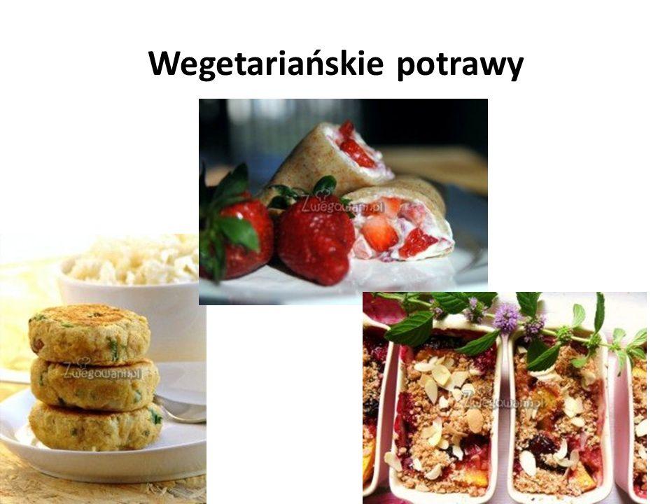 Wegetariańskie potrawy