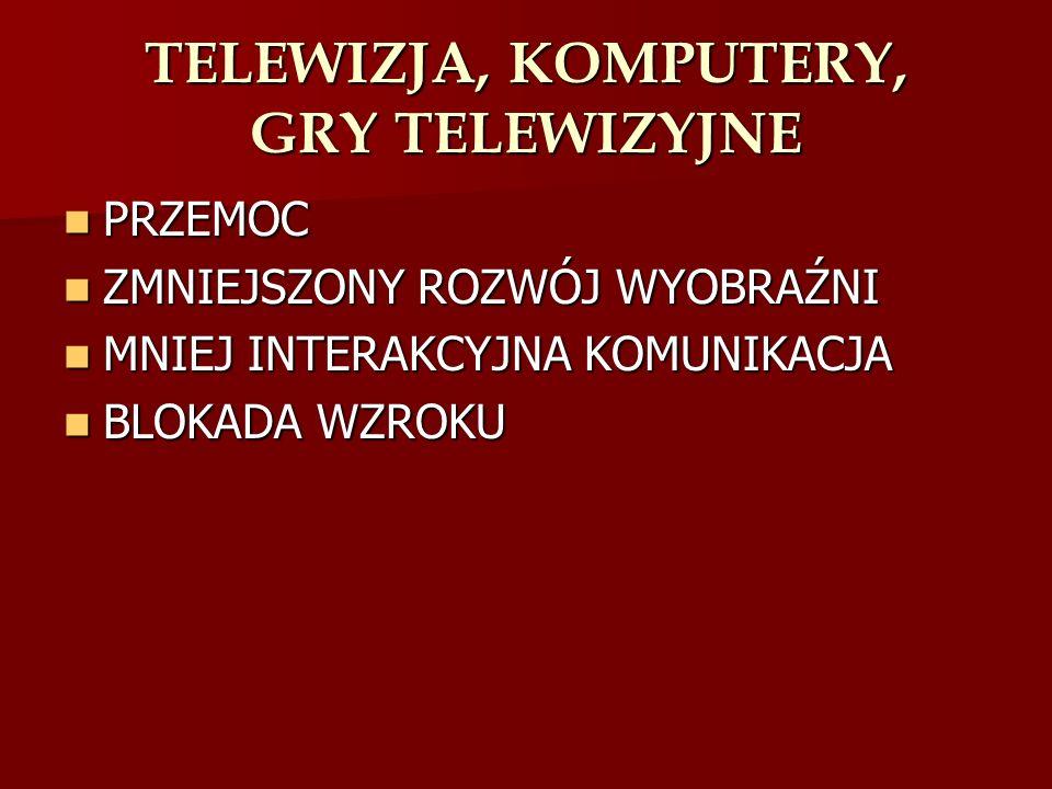 TELEWIZJA, KOMPUTERY, GRY TELEWIZYJNE