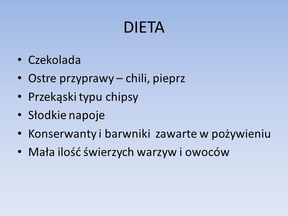 DIETA Czekolada Ostre przyprawy – chili, pieprz Przekąski typu chipsy