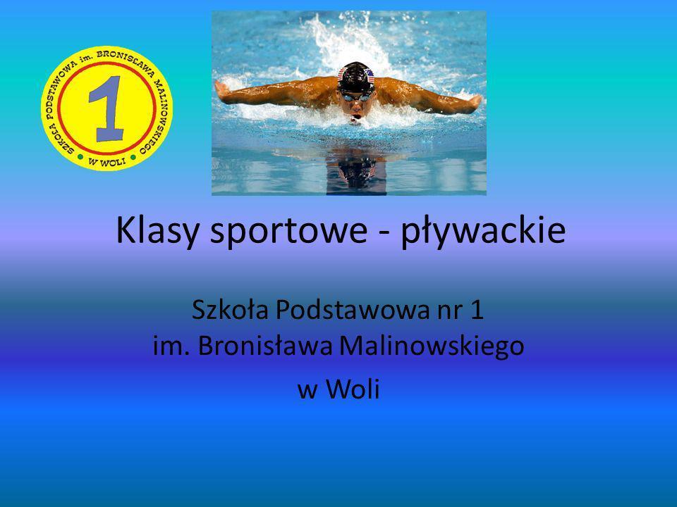 Klasy sportowe - pływackie