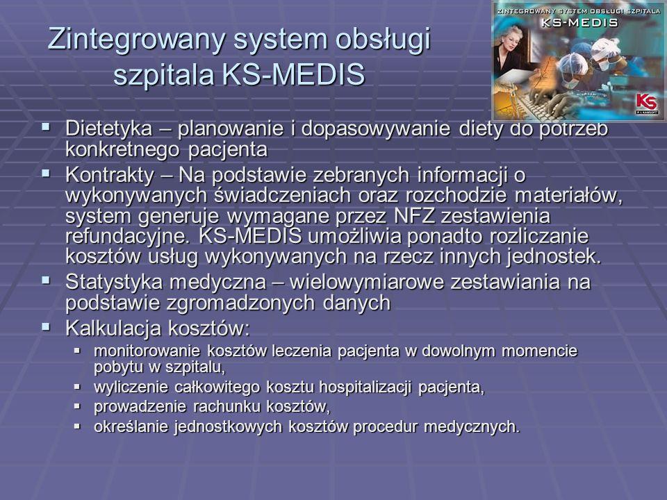Zintegrowany system obsługi szpitala KS-MEDIS