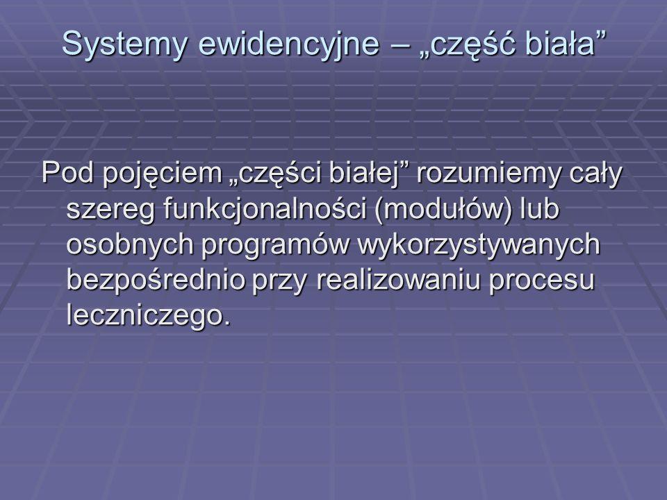 """Systemy ewidencyjne – """"część biała"""