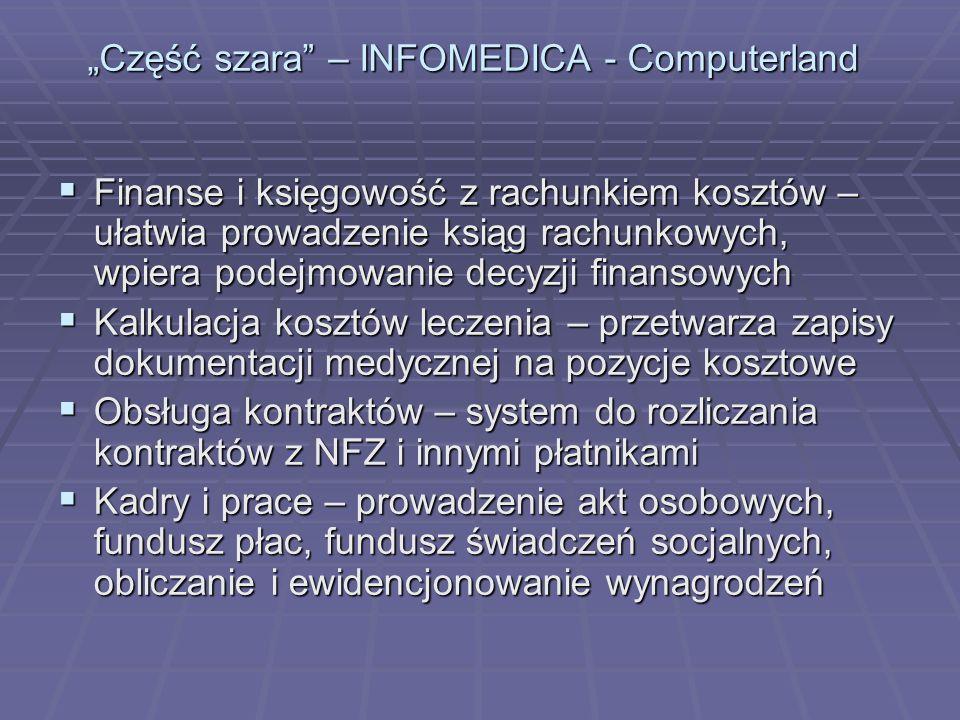 """""""Część szara – INFOMEDICA - Computerland"""