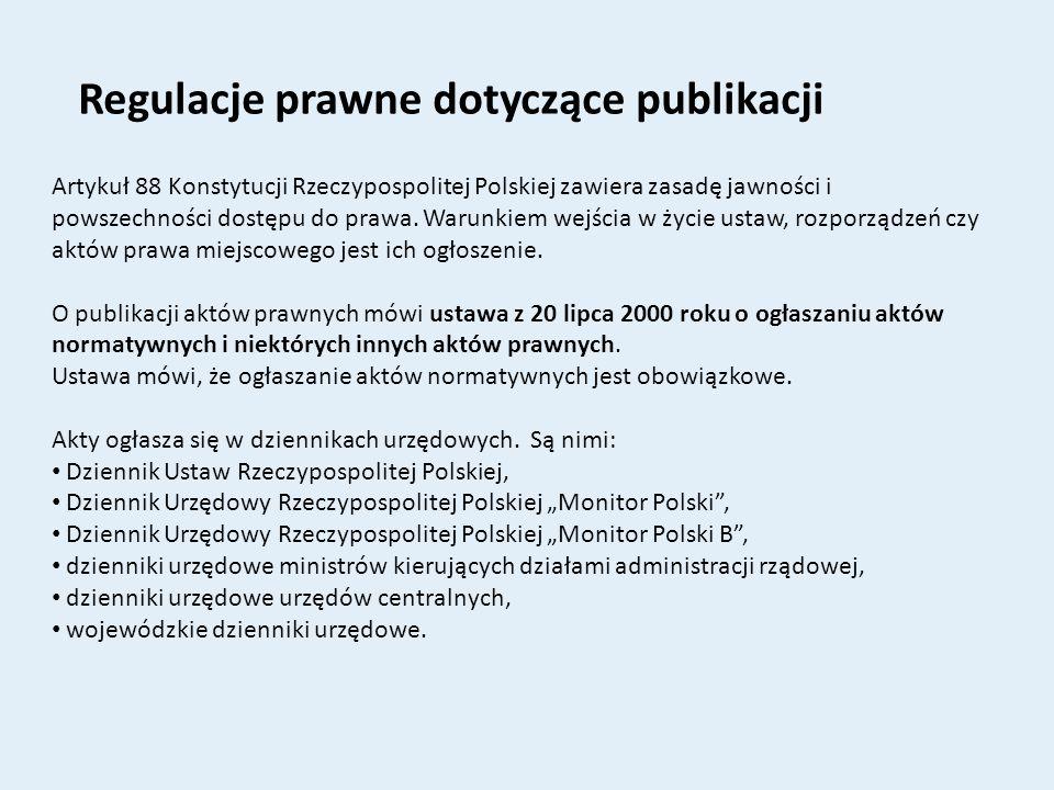 Regulacje prawne dotyczące publikacji