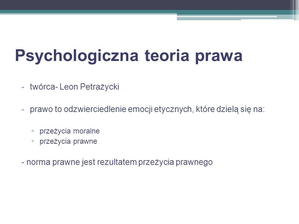 Psychologiczna teoria prawa