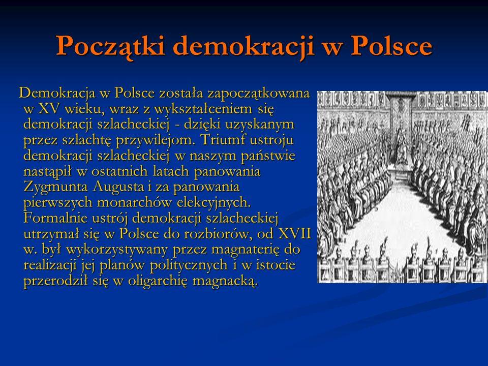 Początki demokracji w Polsce