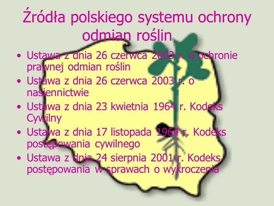 Źródła polskiego systemu ochrony odmian roślin