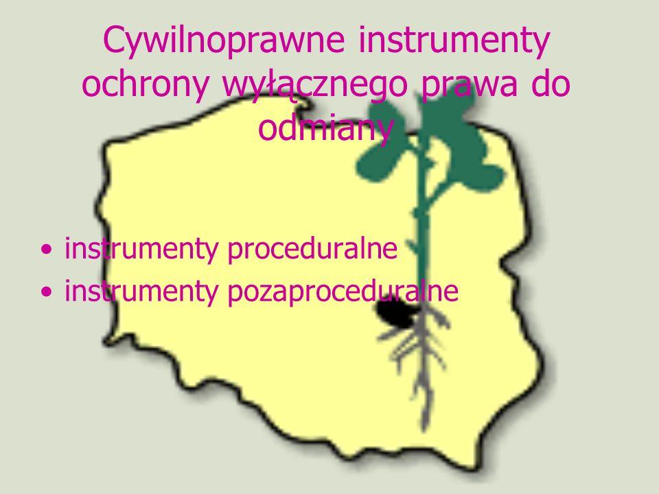 Cywilnoprawne instrumenty ochrony wyłącznego prawa do odmiany