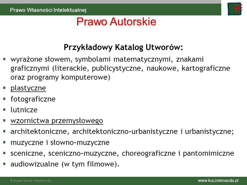 Przykładowy Katalog Utworów: