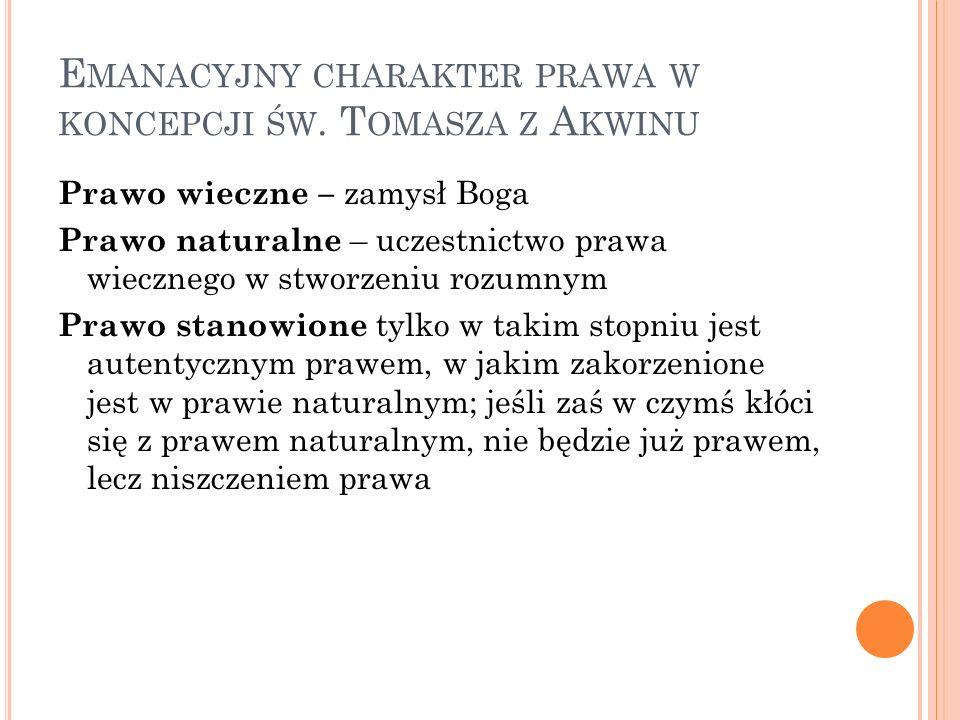 Emanacyjny charakter prawa w koncepcji św. Tomasza z Akwinu