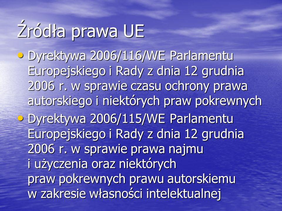 Źródła prawa UE