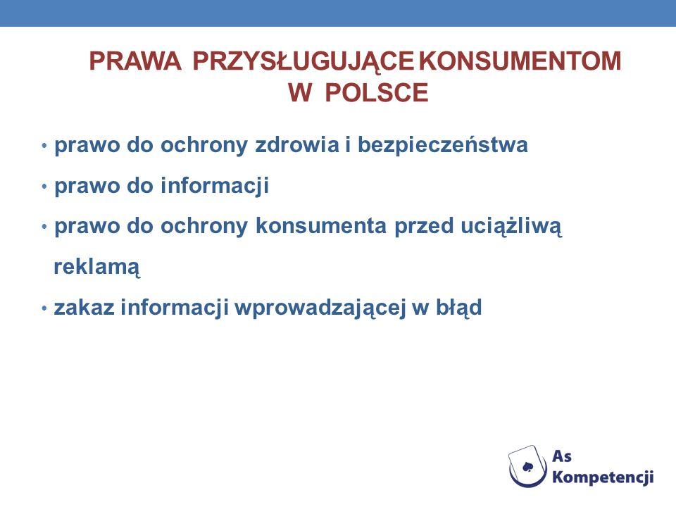 Prawa przysługujące konsumentom w polsce