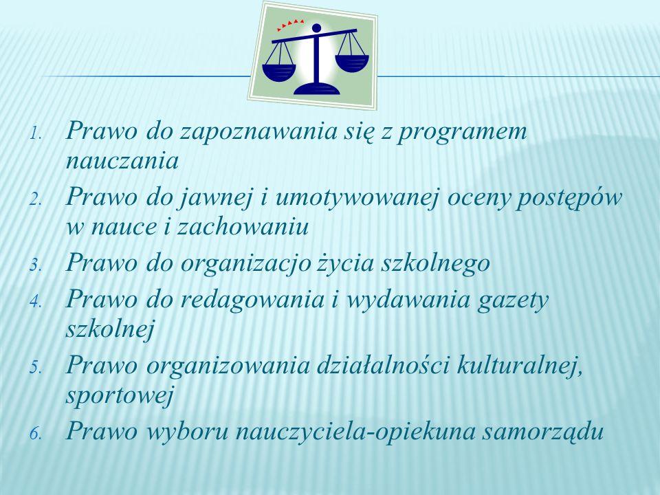 Prawo do zapoznawania się z programem nauczania